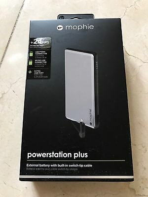 Used, mophie Powerstation Plus Power Bank 6,000 mAh for Micro USB & Lightning Adapter  for sale  Brooklyn