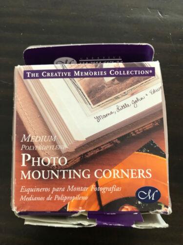 250 M Medium Photo Mounting Corners Creative Memories Scrapbook Adhesive Tape