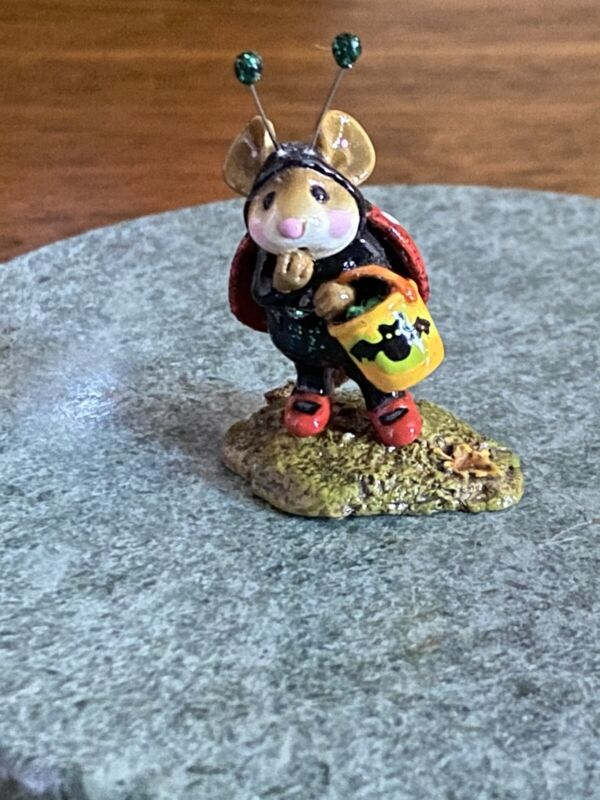 Wee Forest Folk Ladybug Halloween Figurine