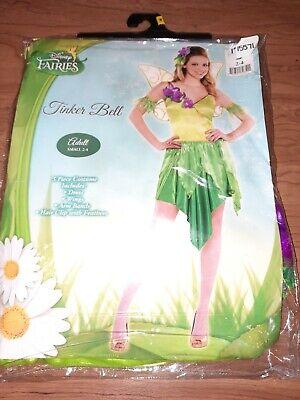 C10 Disney fairies tinkerbell Adult Small 2-4 Halloween Costume Woman Dress wing