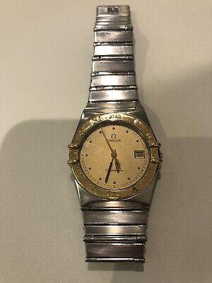 omega constellation 18k gold mens watch