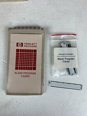 (20) HP Blank Magnetic Program Cards - HP-41C 41CV, 41CX - W Case