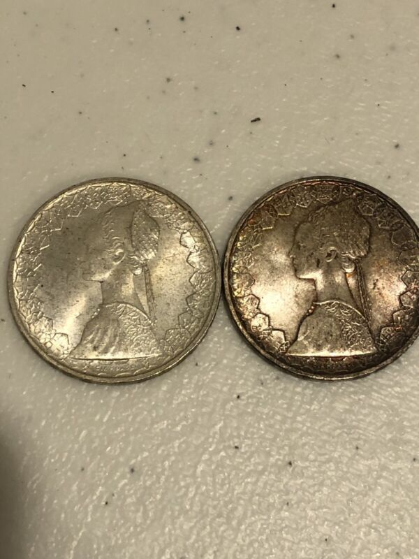 1958-R And 1959-r ITALY SILVER 500 LIRA HIgh Grades
