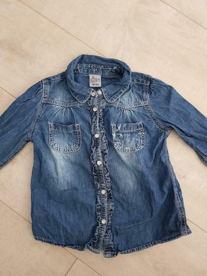 Jeanshemd Jeansbluse 98/104 in Grohn