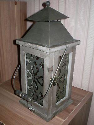 Terrasse Laternen (Laterne Aurelia iHolz Metall Windlicht Terrasse Garten Wohnung Garten Landhaus)