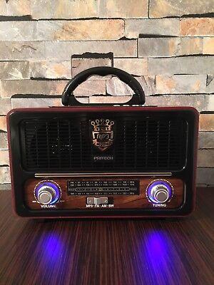 Altavoz Vintage Bluetooth Estilo Antiguo Radio FM/AM/SW USB SD MP3 SÚPER SONIDO!