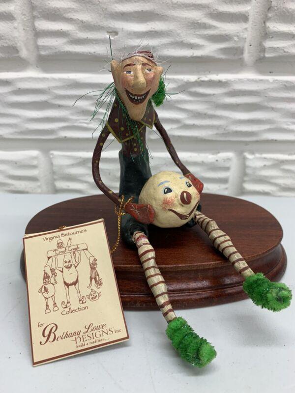 Bethany Lowe Designs Virginia Betournes Trout Creek Christmas Elf w/Snowman Head