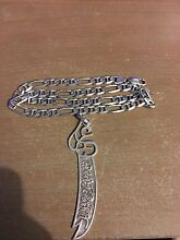 Original made in italy silver chain and sword Clemton Park Canterbury Area Preview