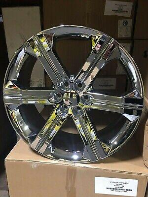 4  2018 Chevy Silverado Wheels OE Replica 24x10 Chrome YUKON DENALI CHEVY GMC