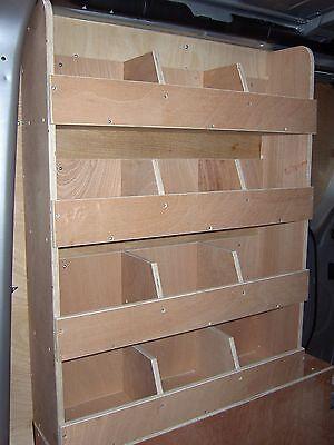 Vauxhall Vivaro  Ply Lining Shelving van Plywood Racking Van Storage