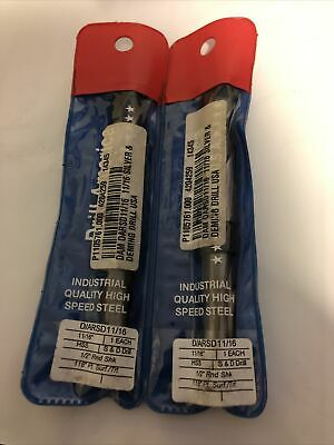 2pcs 1116 Dia Hss Silver And Deming Drill With 12 Reduced Shank Msrp 19.00