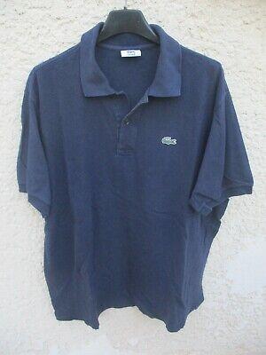 Polo lacoste devanlay bleu marine coton jersey shirt manches courtes taille 5