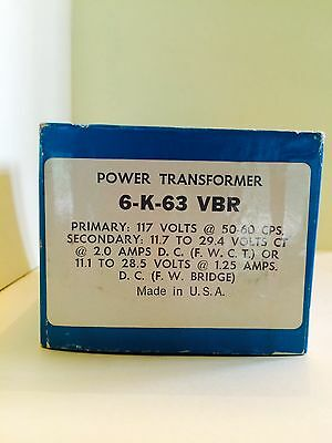 Allied Electronic Power Transformer 6-k-63 Vbr 117 Volts  New Old Stock