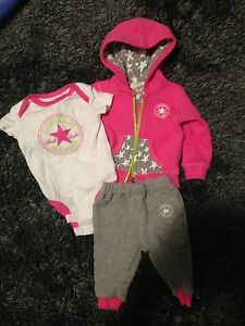 Girls 3 piece converse outfit