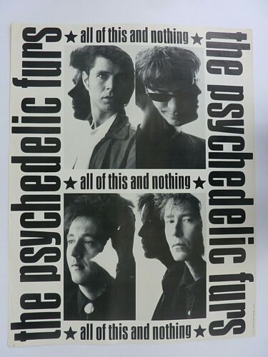 PSYCHEDELIC FURS ALL OF THIS AND NOTHING 1988 VINTAGE MUSIC STORE PROMO POSTER
