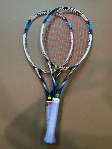 2 WILSON JUICE 100S Spin Effect Tennis Racket 4 3/8 16x15