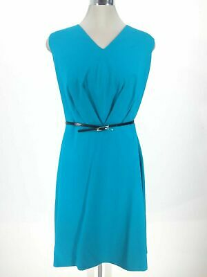 Calvin Klein Elegant NWT Modern LAGOON Fit & Flare belted Dress, Plus size 20W