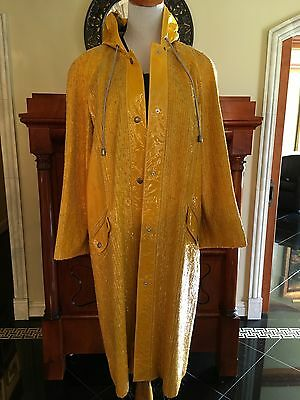 Proenza Schouler Yellow Sequin One Of A Kind Rain Coat Jacket! $9400
