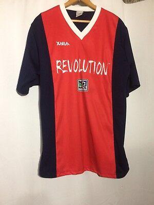 New England Revolution MLS Soccer XARA Mens Short Sleeve Shirt Jersey Red Medium for sale  Shipping to India