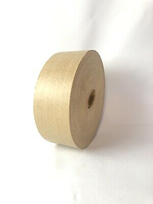 Brown Kraft Paper Gummed Tape 60mm X 600 Reinforced Water Activated 1 Roll