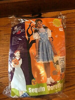 Girls Deluxe Wizard Of Oz Dorothy Costume - Child Large 12-14 NEW](Deluxe Dorothy Costume)