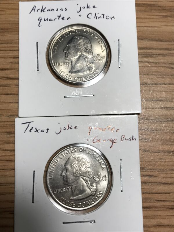 Joke Quarters Clinton & Bush