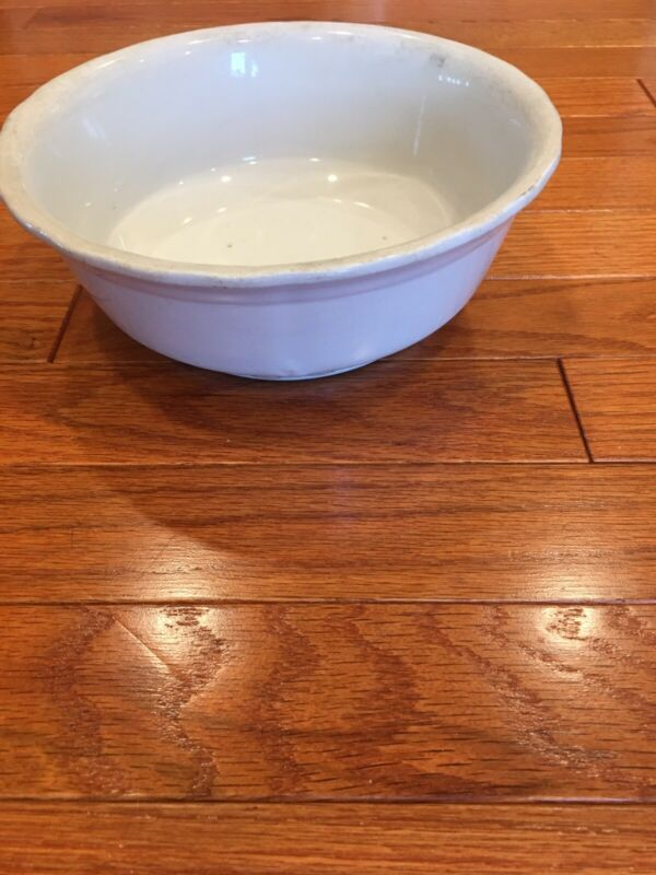 "Meakin 8.5"" Large Antique White Ironstone China Serving Bowl England"