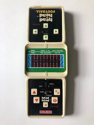 Ultra Rare Vintage Coleco Electronic Head to Head Football Tested - Works! Read