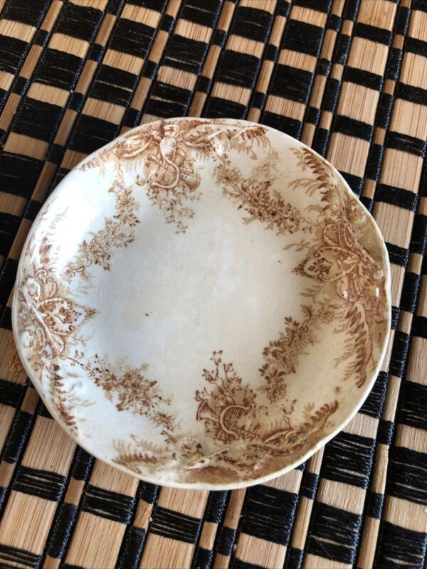 Vintage Pitcairns Limited England Porcelain Floral Butter Pat Dish