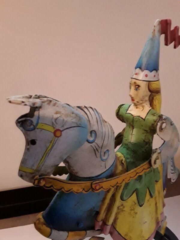 Tin Metal Balance Toy-Antiqued Medieval Princess ...new