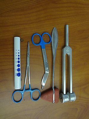 5 Piece Blue Medical Kit - Diagnostic Emt Nursing Surgical Ems Student Paramedic