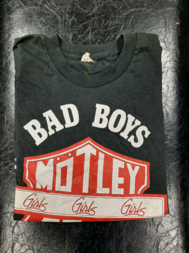 MOTLEY CRUE Girls Girls Girls World Tour 1987 Vintage Original Concert T-Shirt