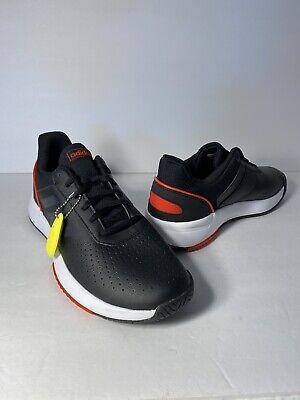 New Adidas Men Courtsmash Tennis Shoe Black White Red Size 10