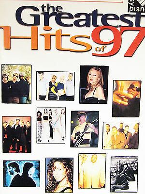 THE GREATEST HITS OF 97 PAPERBACK SHEET MUSIC BOOK PIANO GUITAR VOICE LYRICS