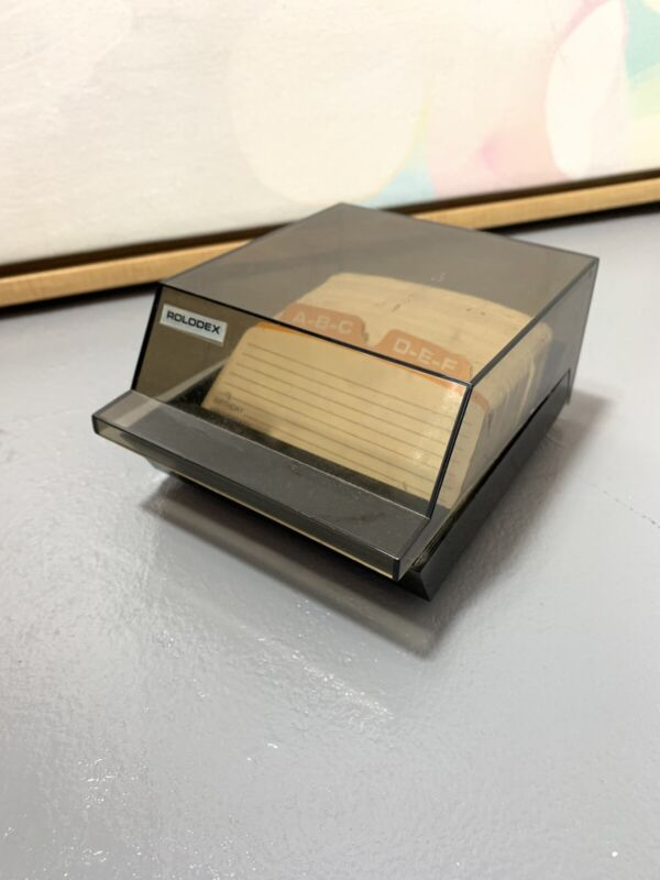 Vintage Rolodex S-310 Contact Office Desk Contact Holder