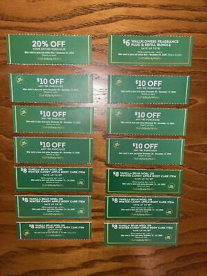 Bath & Body Works Coupons * 14 Coupons Total *