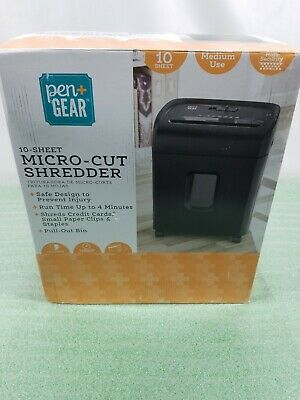 Pen Gear 10-sheet Micro Cut Paper Shredder Model C224-a