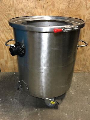 Stainless Steel Vessel Vacuum Tank W Minuteman Down Tube 21.5 Od