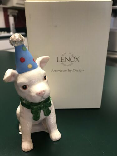 Lenox Birthday Puppy Porcelain Figurine Pit Bull? New In Box