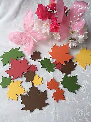 - 25 - 100 LEAVES PAPER CUT OUTS/EMBELLISHMENTS - Mixed of Fall Colors