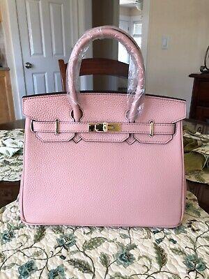 Vinobo 30c Light Pink Togo Leather Handbag w Gold Hardware New Light Gold Hardware