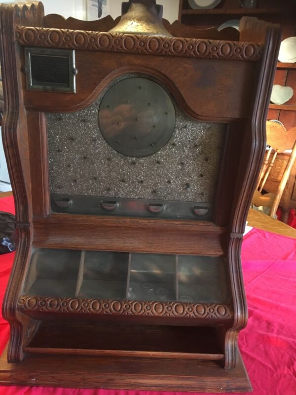 """Antique """" Counter Pocket"""" Early Pinball Slot Machine By Ogden. Great Condition"""