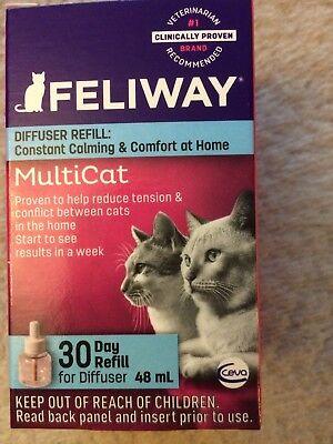 CEVA Animal Health Feliway MultiCat 30 Day Refill Diffuser 48ml Pheromone