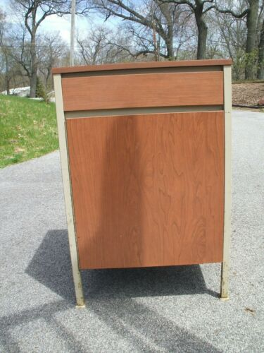 Vivant By: Simmons Vintage Mid Century  Industrial  Linear Metal Cabinet