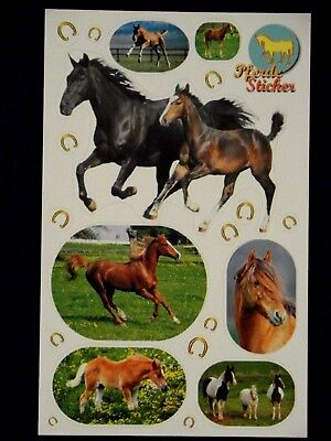 Sticker 1 Bogen Pferd Pferde Fohlen Hufeisen Aufkleber von bsb