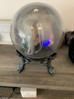 Gemmy Retired Animated Talking Witch in Lighted Crystal Ball Halloween Prop