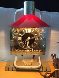 BUDWEISER BEER ORIGINAL VINTAGE Advertising SIGN Office DESK CLOCK LAMP