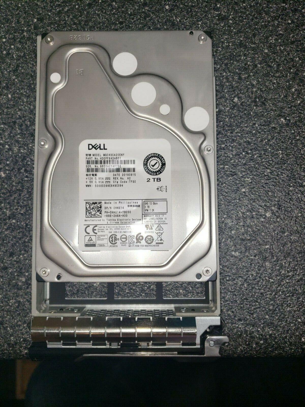 "Dell 14X4H 014X4H MG03SCA300 3TB 6G 7.2K 3.5/"" SAS Hard Drive"