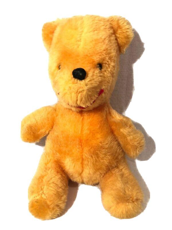 "Winnie The Pooh Plush 12"" Made In Japan Bell In Ear Walt Disney Early Vintage"