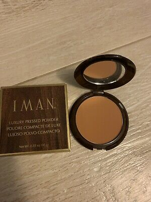 IMAN Cosmetics Luxury Pressed Powder, Clay Medium/Dark. Retail $28